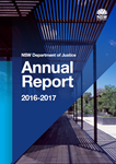 Department of Justice Annual Report 2015-16 cover