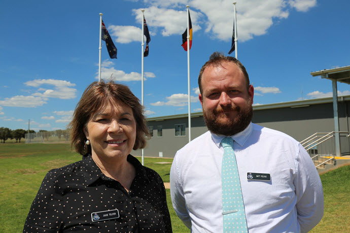 Matthew Felvis and Julie Telfer at the new Rapid-Build Prison at Wellington